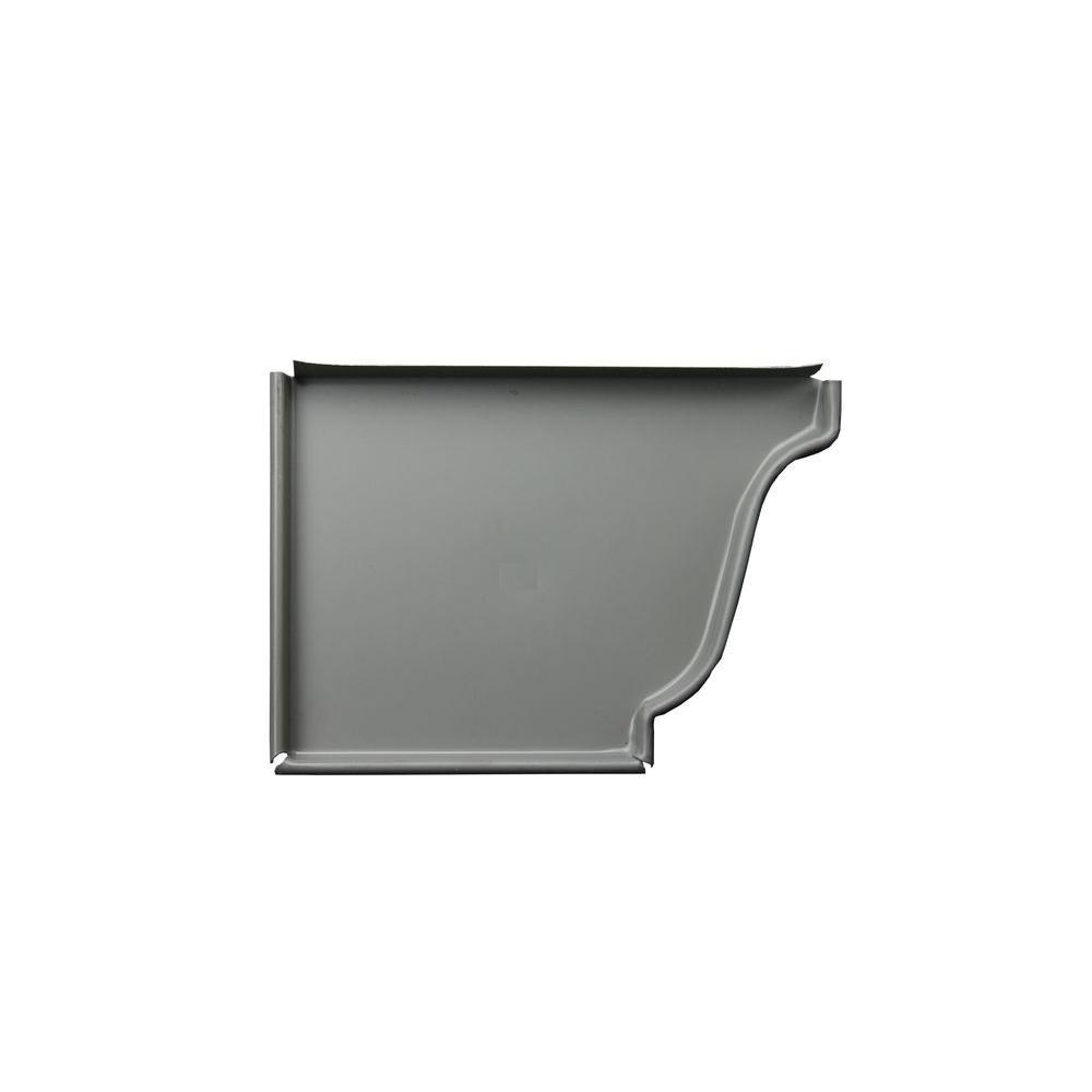 5 in. Dove Gray Aluminum Left End Cap