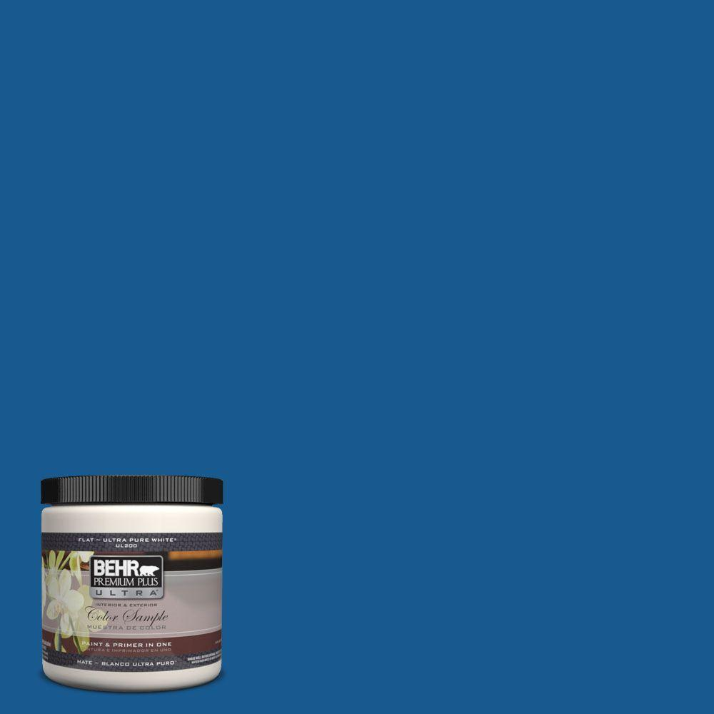BEHR Premium Plus Ultra 8 oz. #S-G-570 Sapphire Lace Interior/Exterior Paint Sample