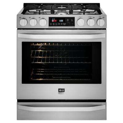 6.3 cu. ft. Slide-In Gas Range with ProBake Convection, Self Clean and EasyClean in Stainless Steel