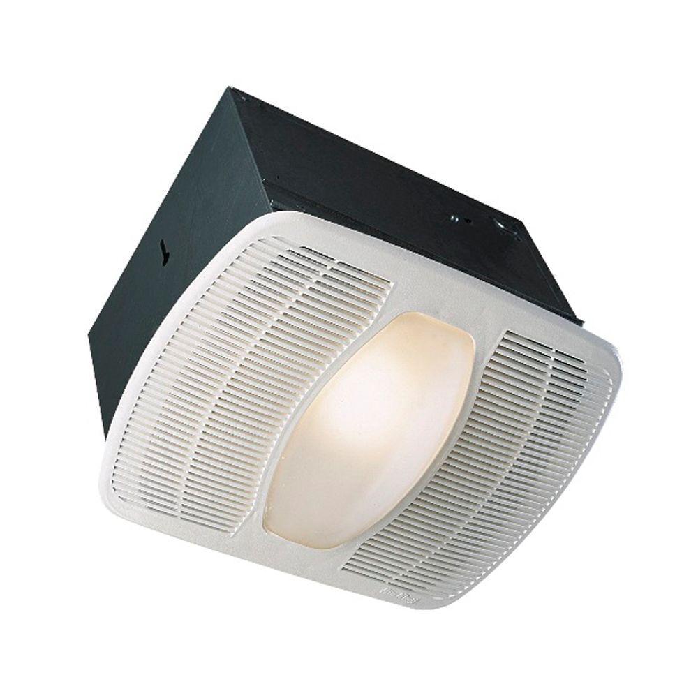 Deluxe Quiet 100 CFM Ceiling Exhaust Fan with Light