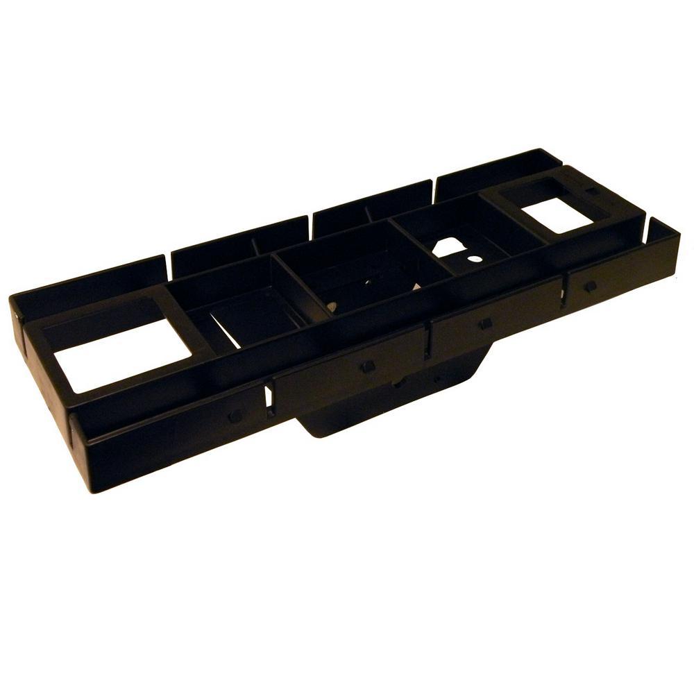 Patriot Plastic, Mailbox Mounting Board, Black