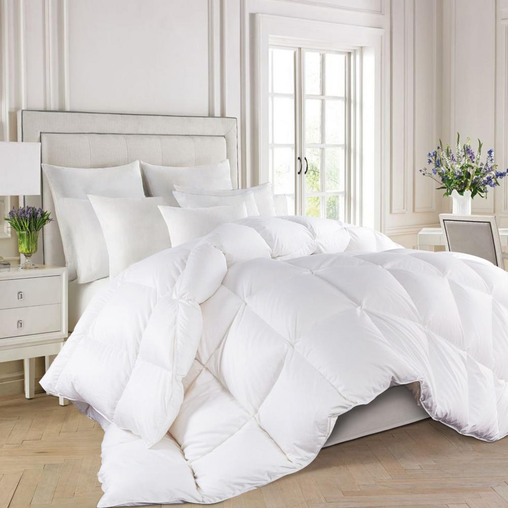 Winter Warmth White King 800-Fill Power 93% White Goose Down Comforter