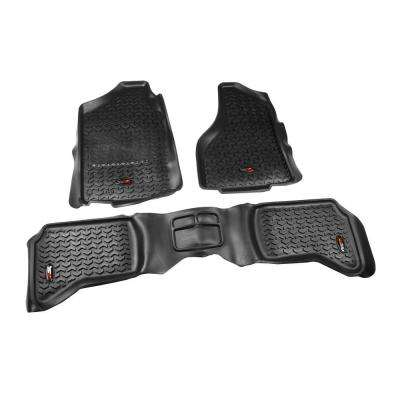 Floor Liner Set 3-Piece Black 2002-2012 Ram 1500/2500/3500
