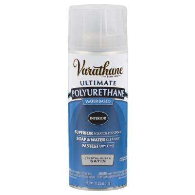 11.25 oz. Clear Satin Water-Based Interior Polyurethane Spray Paint