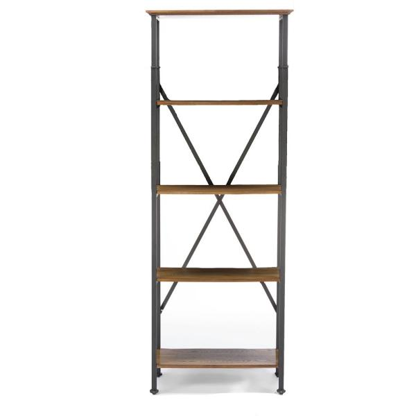 Baxton Studio Lancashire Brown Open Bookcase 28862-5500-HD