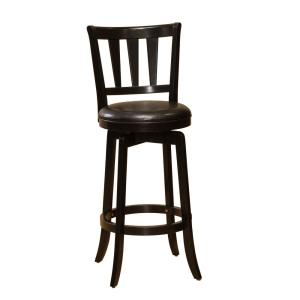 Internet #203623983. Hillsdale Furniture Presque Isle 39.5 in. Black Swivel Cushioned Bar Stool  sc 1 st  The Home Depot : black and wood bar stools - islam-shia.org
