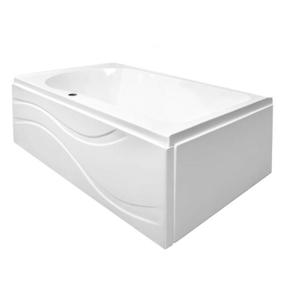 Solo 60 in. L Acrylic with Right Drain Rectangular Alcove Infusion MicroBubble Air Bath Bathtub in White