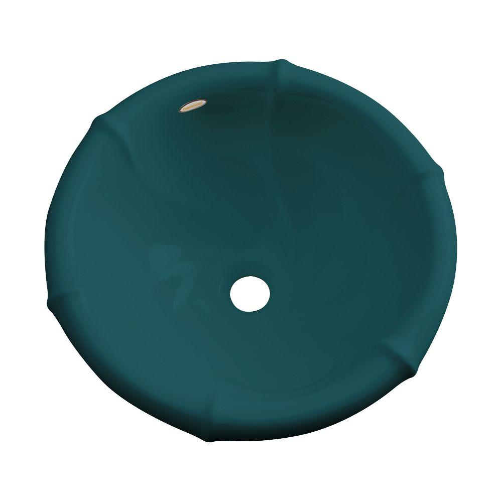 null Waverly Drop-In Bathroom Sink in Teal