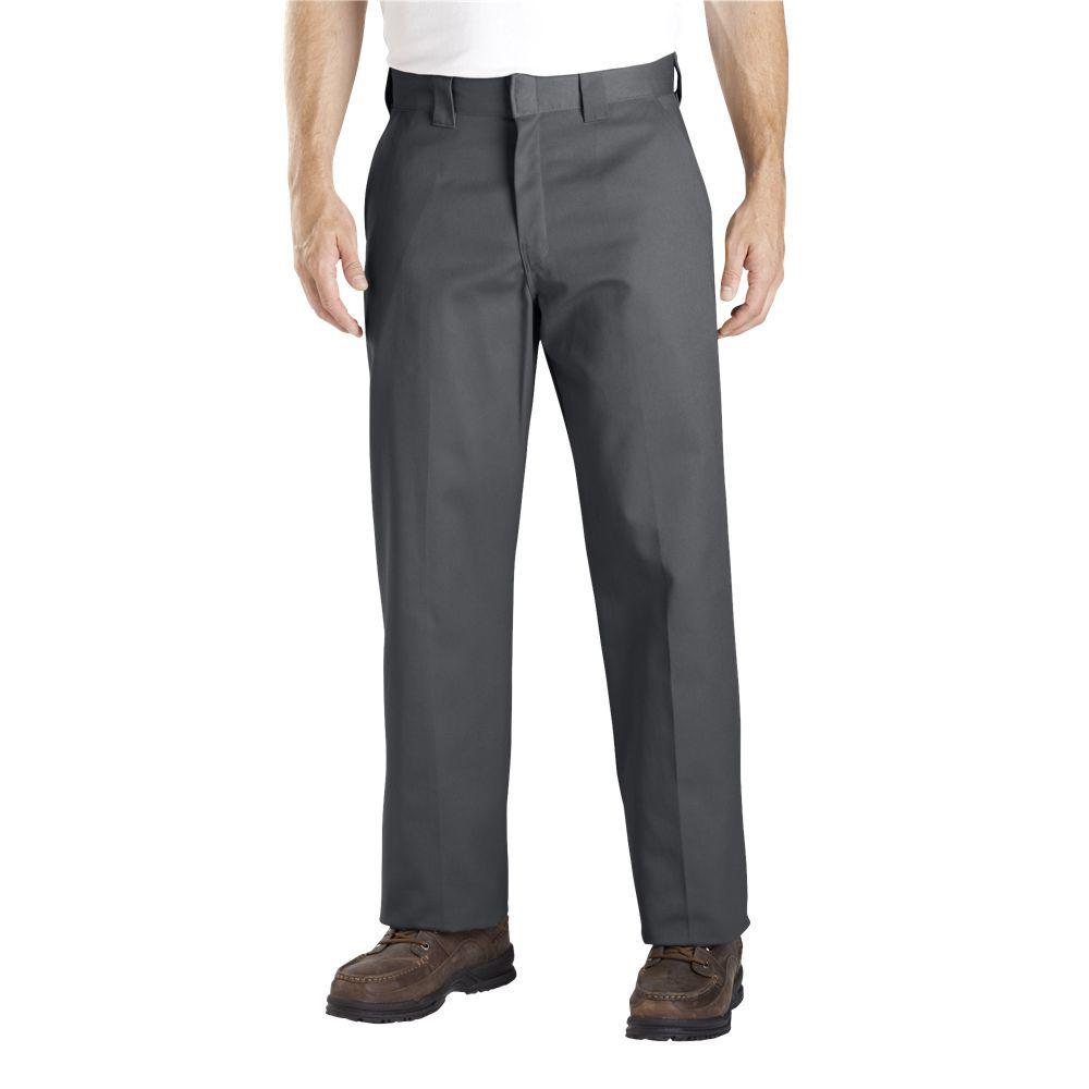 Dickies Relaxed Straight Fit 44 in. x 32 in. Polyester Pant Grey-DISCONTINUED