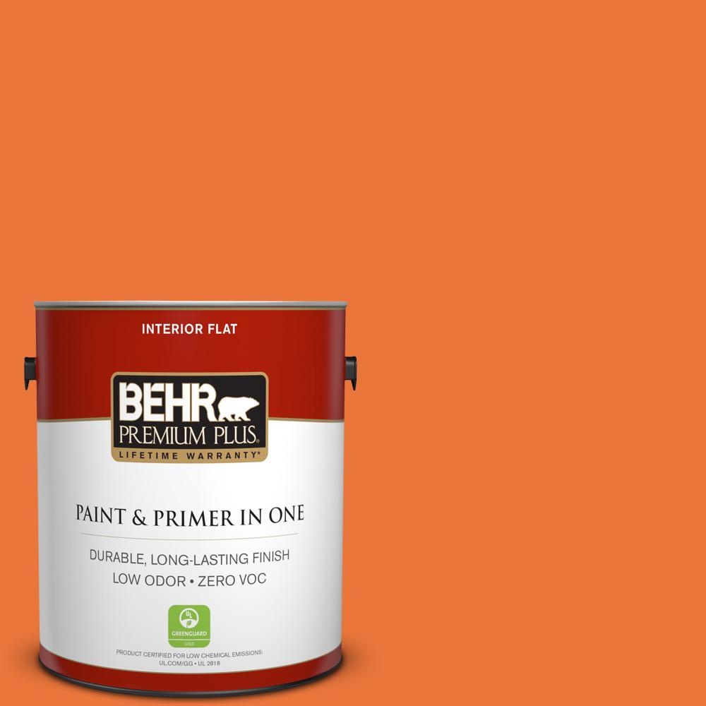 BEHR Premium Plus Home Decorators Collection 1-gal. #HDC-MD-27 Tart Orange Zero VOC Flat Interior Paint