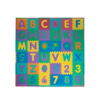 96-Piece Alphabet and Number Puzzle Foam Floor Playmat