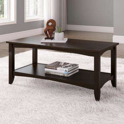 Cambridge Espresso 2 Tiered Coffee Table