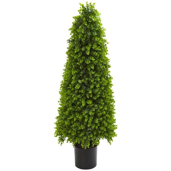 4 ft. Indoor/Outdoor Eucalyptus Topiary Artificial Tree