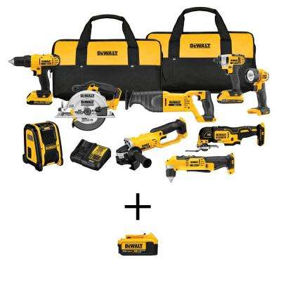 20-Volt MAX Lithium-Ion Cordless Combo Kit (9-Tool) with Bonus 20-Volt MAX XR Lithium-Ion Premium Battery Pack 4.0Ah