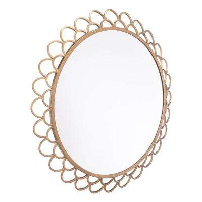 Rani Circular Gold Large Wall Mirror