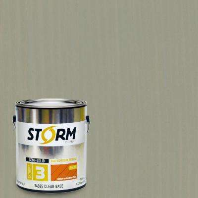 1 gal. Parsons Gray Exterior Semi-Solid Dual Dispersion Wood Finish