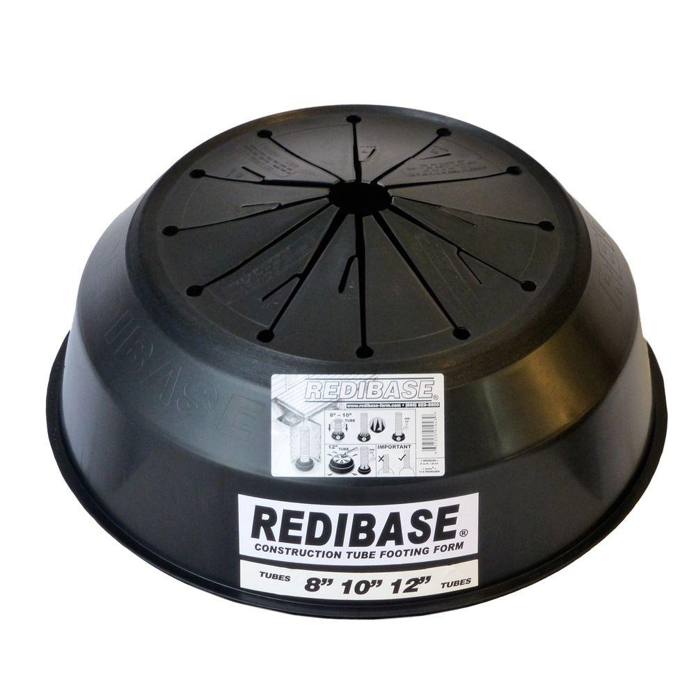 Redi Base 8 in  x 24 in  Disposable Plastic Footing for In-Ground Concrete  Column
