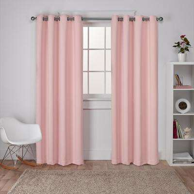 L Woven Blackout Grommet Top Curtain Panel