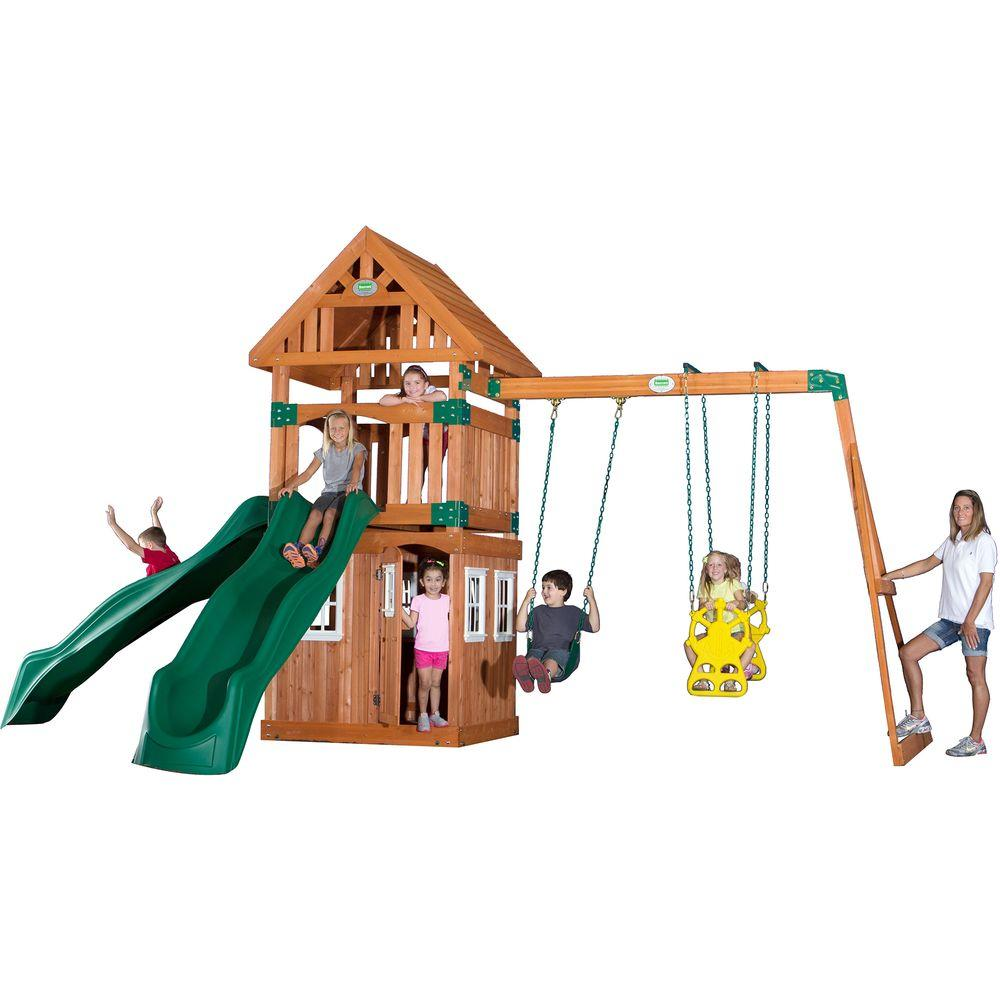 Backyard Discovery Outing All Cedar Playset-54233com - The Home Depot