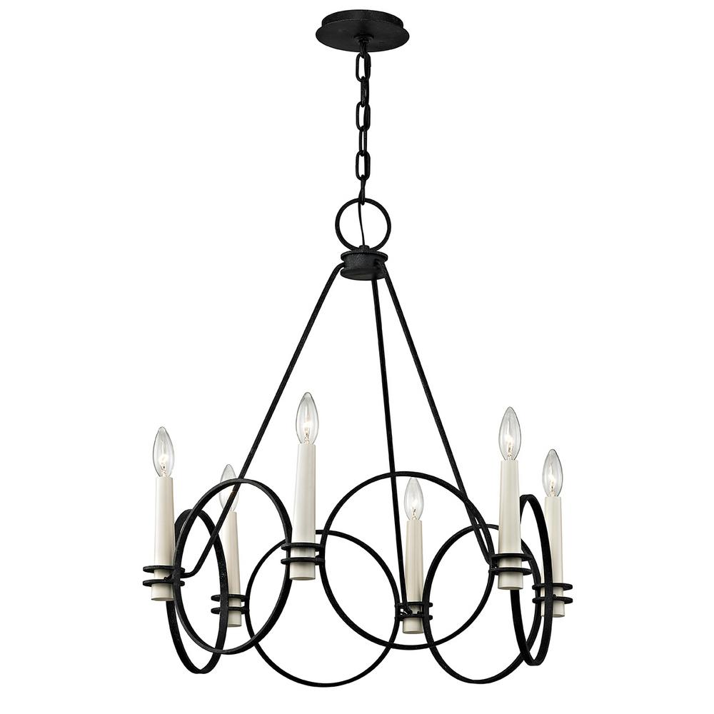 Troy Lighting Juliette 6-Light Country Iron Chandelier-F5956 - The ...