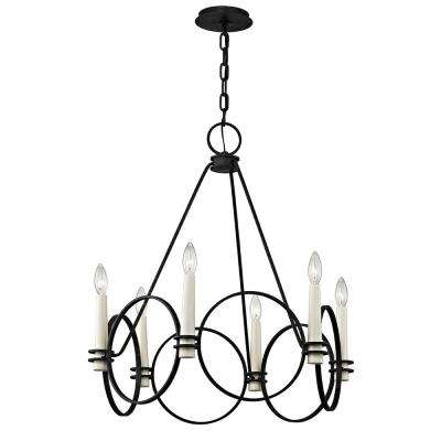 Juliette 6-Light Country Iron Chandelier