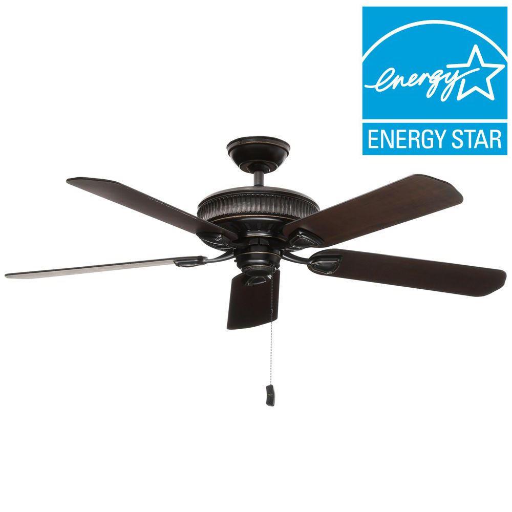 Ainsworth 54 in. Indoor Basque Black Ceiling Fan