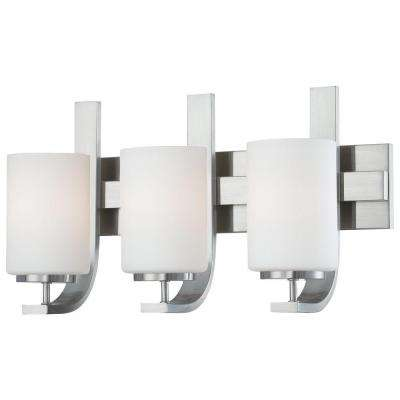 Pendenza 3-Light Brushed Nickel Wall Vanity Light