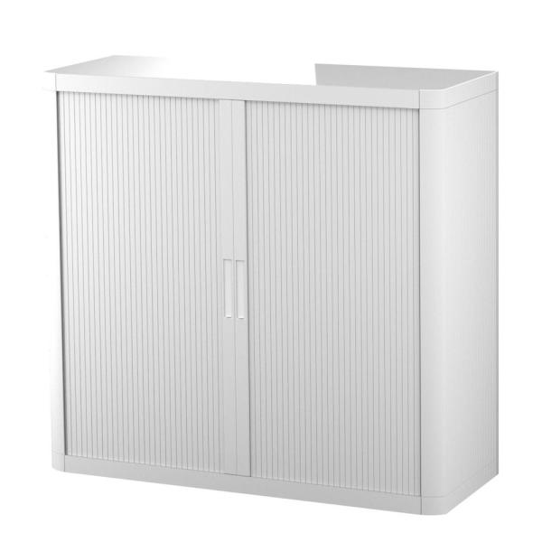 Paperflow easyOffice White 41 in. Tall Storage Cabinet with 2-Shelves EE000070