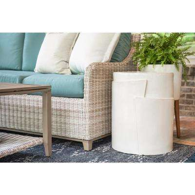 Jenny Oval Ceramic Stone Outdoor Accent Table