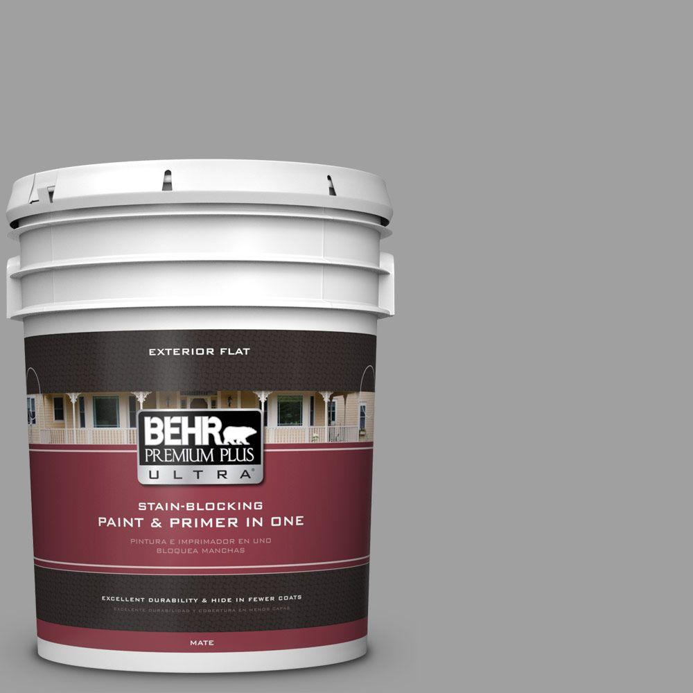 BEHR Premium Plus Ultra 5-gal. #T11-1 Grayve Yard Flat Exterior Paint