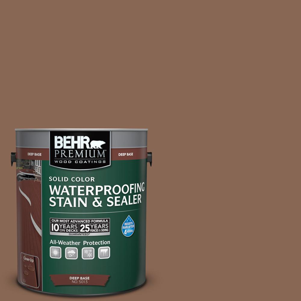 1 gal. #PPU3-17 Clay Pot Solid Color Waterproofing Exterior Wood Stain