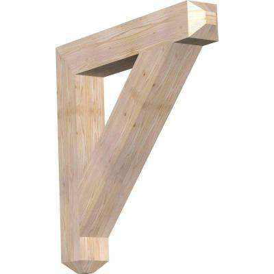 5-1/2 in. x 38 in. x 38 in. Douglas Fir Traditional Craftsman Smooth Bracket