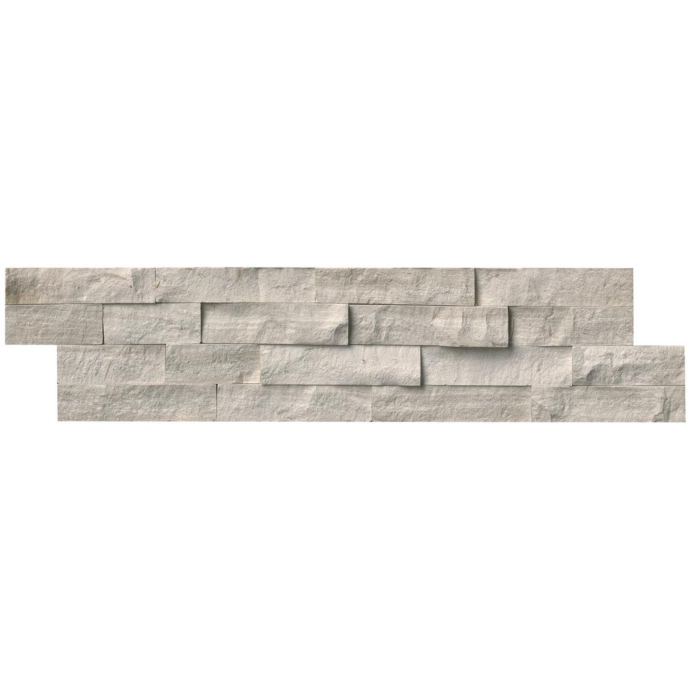 MSI Classico Oak Ledger Panel 6 in. x 24 in. Natural Marble Wall Tile