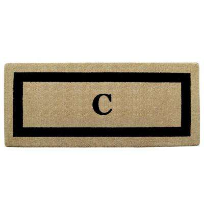 Single Picture Frame Black 24 in. x 57 in. Heavy Duty Coir Monogrammed C Door Mat