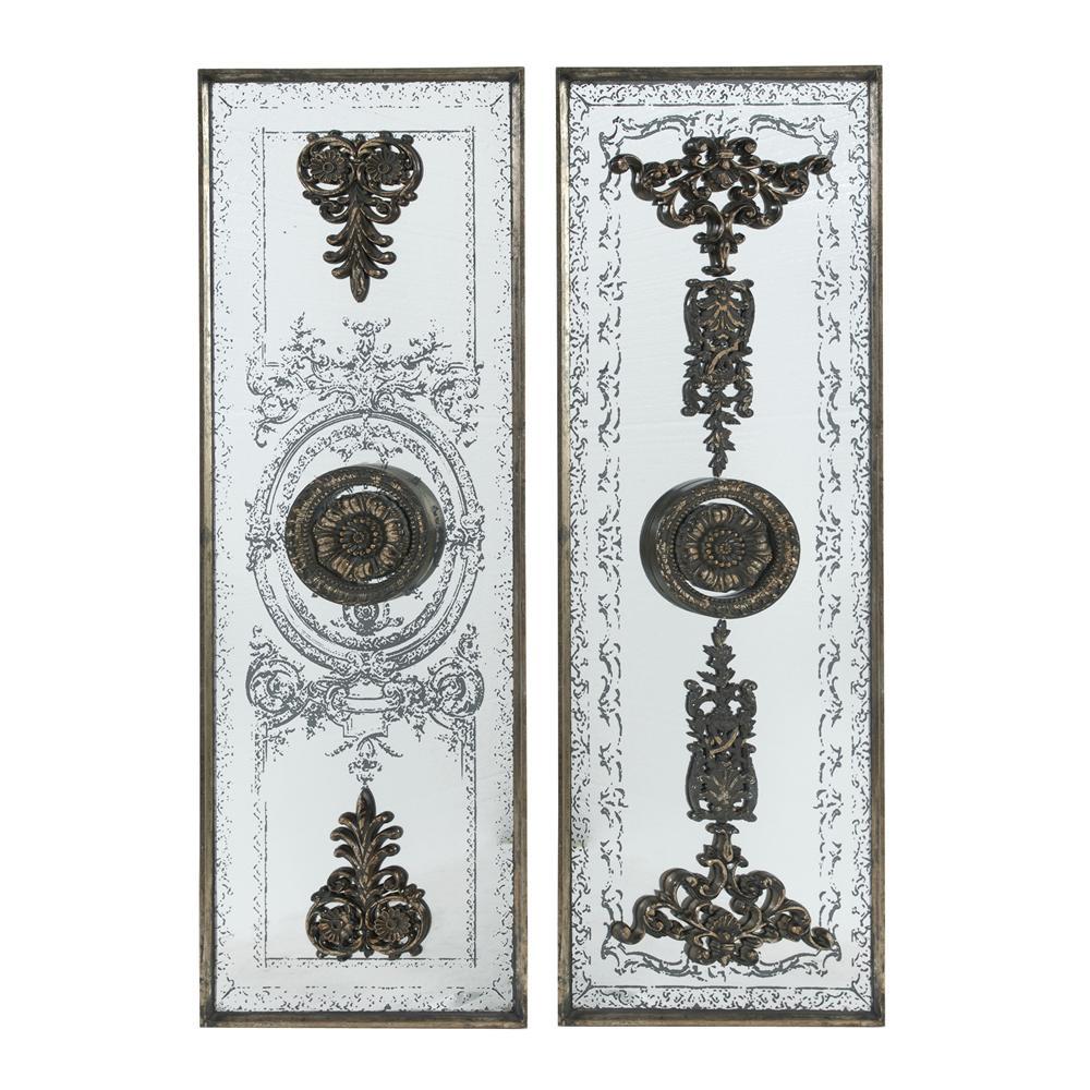 Doorways Past Mirrored Bronze Panels (Set of 2)