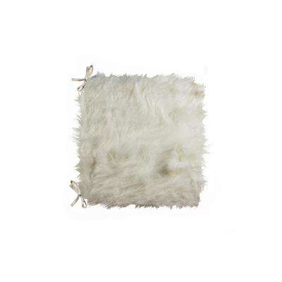 Laredo Off-White Faux Sheepskin Fur Chair Pad