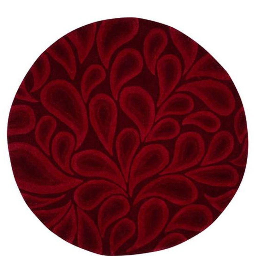 Home Decorators Collection Shadow Red 7 ft. 9 in. Round Area Rug