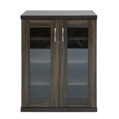 Oakes Brown Storage Cabinet 2-Doors