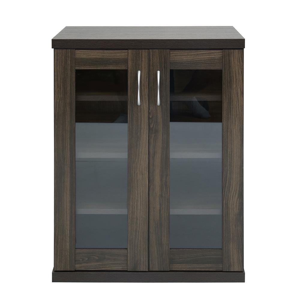 Oakes Brown Storage Cabinet 2-Doors