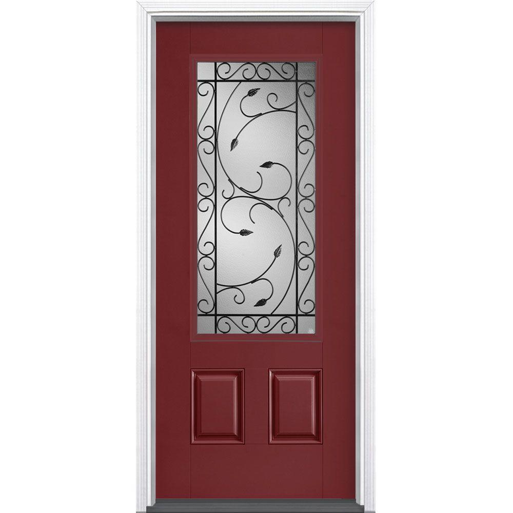 Red Rustic Front Doors Exterior Doors The Home Depot