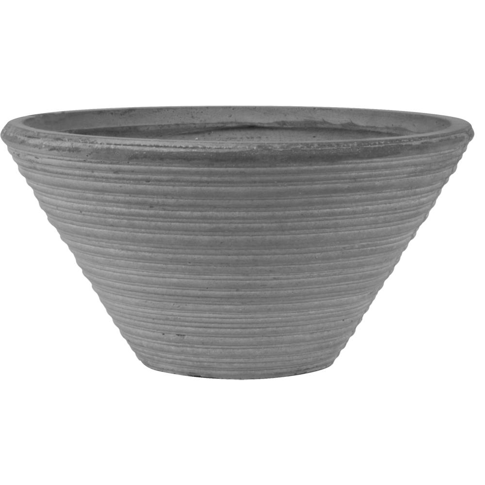 Charmant Pride Garden Products Origins Canna 16 In. Light Gray Fiberclay Bowl Planter