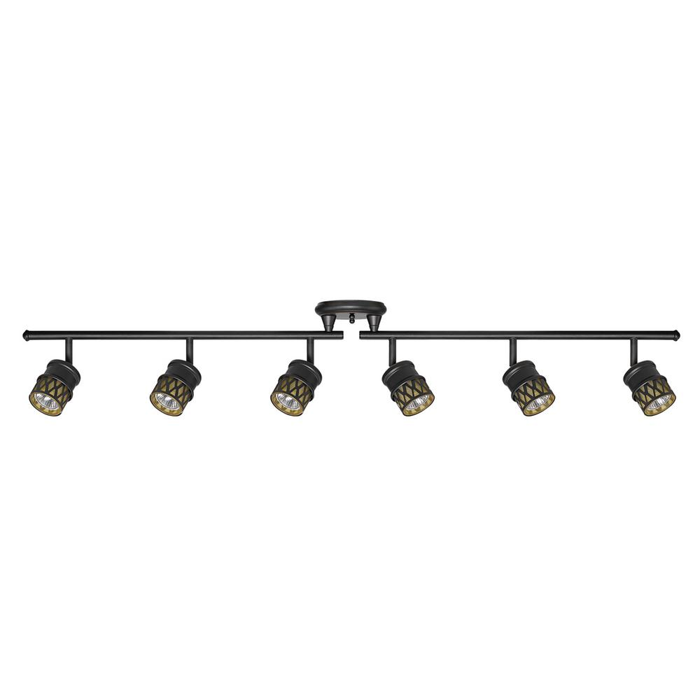 Bronze track lighting lighting the home depot kearney 6 light oil rubbed bronze foldable track lighting kit mozeypictures