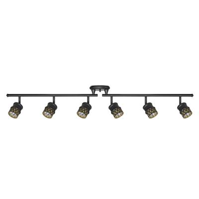 Kearney 6-Light Oil Rubbed Bronze Foldable Track Lighting Kit