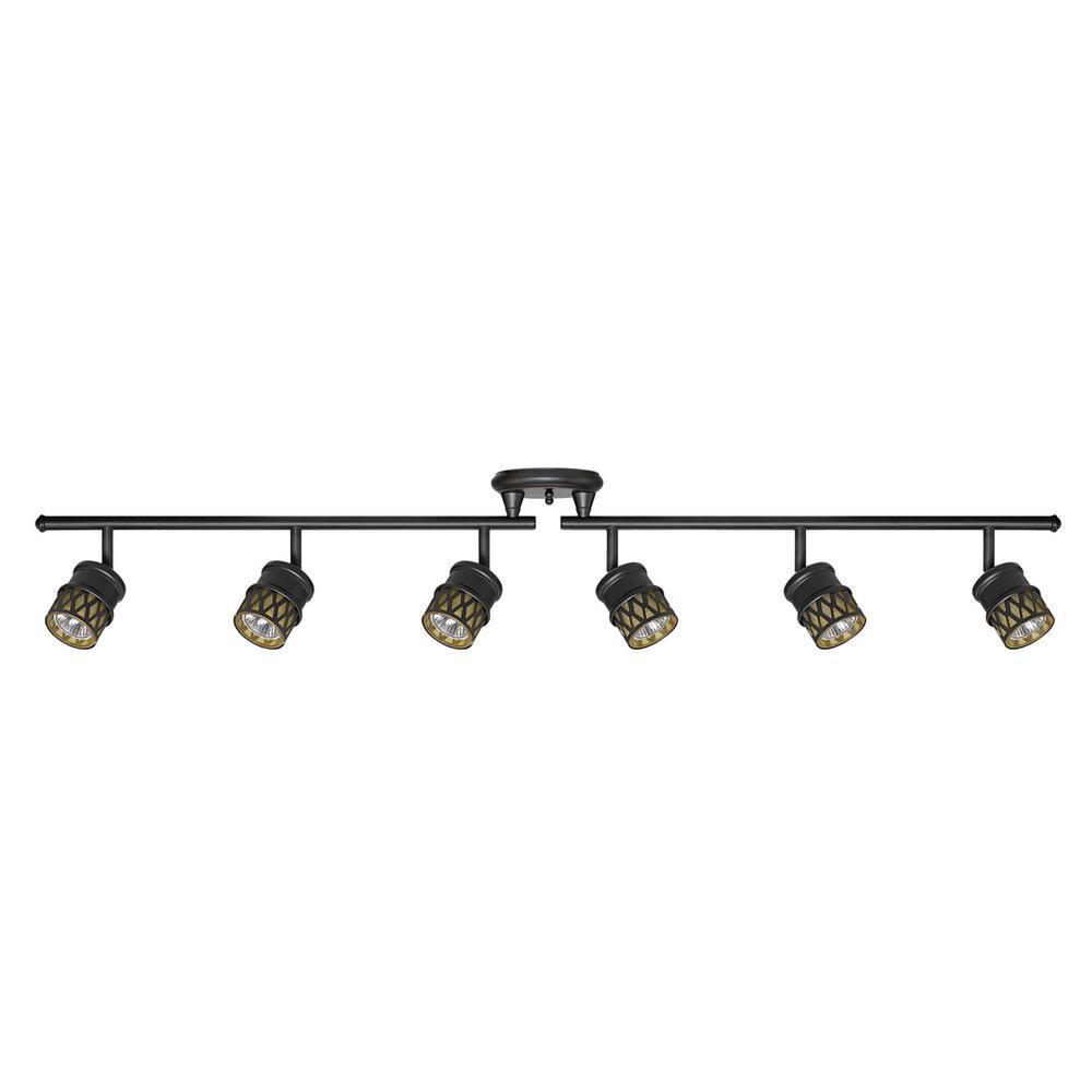 Kearney 6-Light Oil Rubbed Bronze Foldable Track Lighting Kit