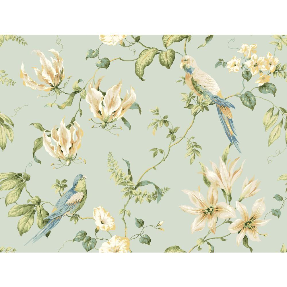 York Wallcoverings Tropical Floral Wallpaper Jg0752 The Home Depot