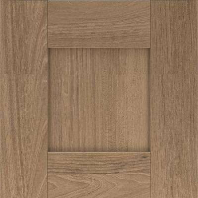 14.5x14.5 in. Cabinet Door Sample in Gardner Bark Brown