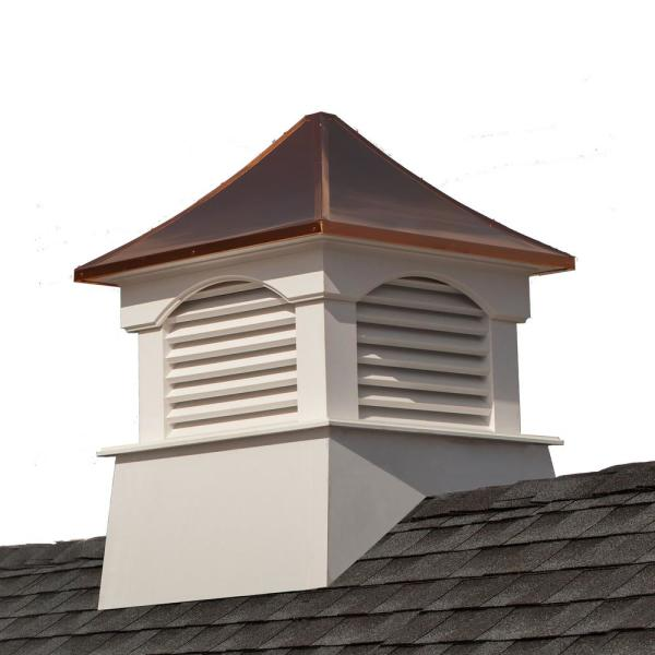 Coventry 26 in. x 35 in. Vinyl Cupola with Copper Roof