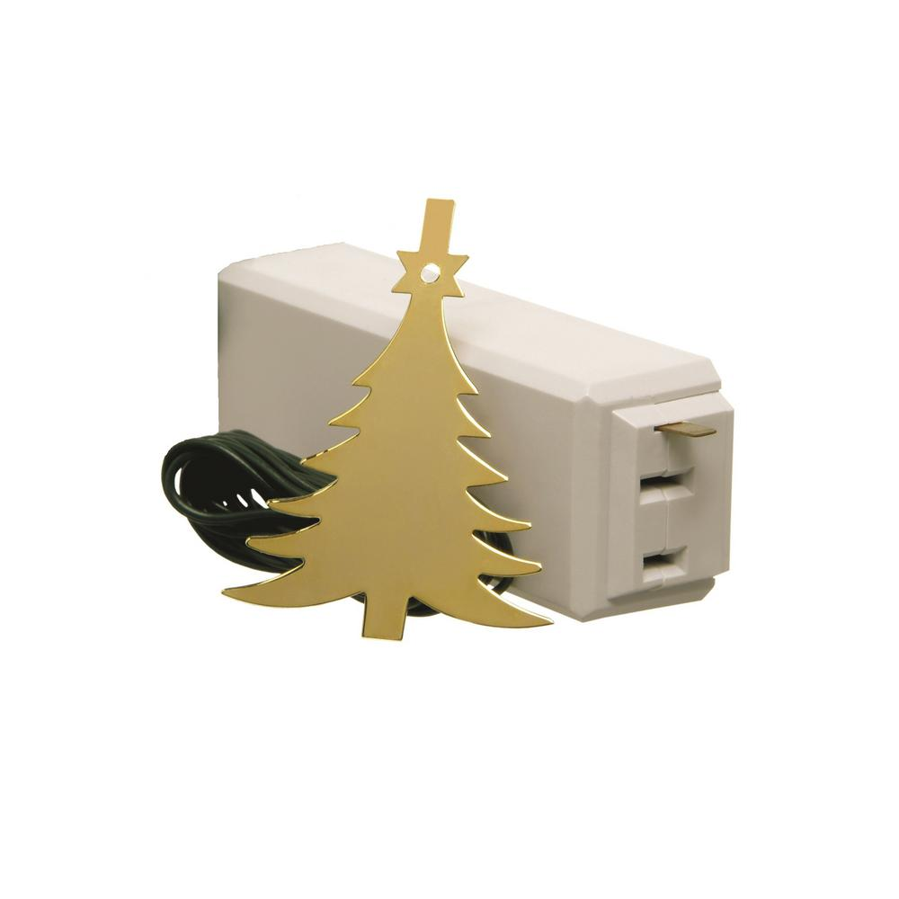 Xodus Innovations Tree Light On/Off Touch Ornament Brass Tree