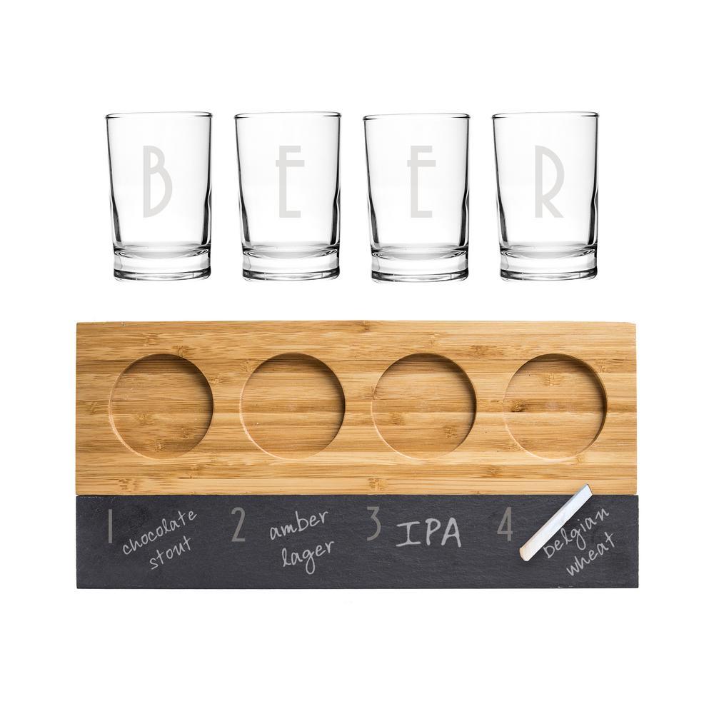 5.5 oz. Bamboo and Slate Craft Beer Tasting Flight