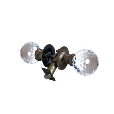 Honeycomb Crystal Antique Brass Passive Door Knob with LED Mixing Lighting Touch Activated